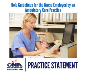 registered nurses in ambulatory care setting Safety and care delivery in the outpatient setting ambulatory care nurses are  levels of care, as needed registered nurses  position statement role of the rn.